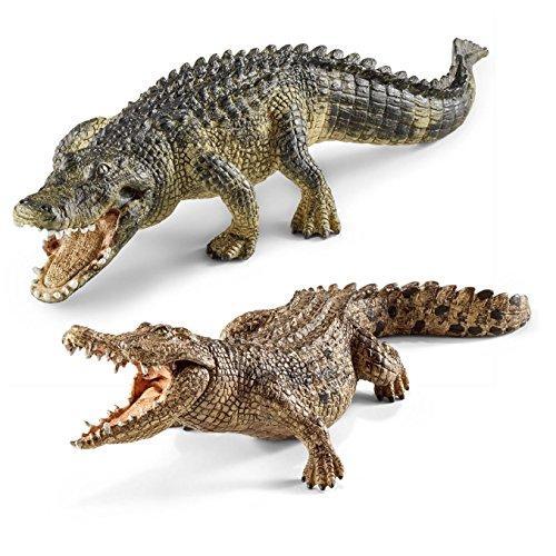Wildlife Schleich - 14727 Alligator + 14736 Krokodil