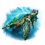 Rahmenbild Meeresschildkröte Tiere DIY Malen nach Zahlen Kit Leinwand nach Zahlen für Wohnkultur Einzigartiges Geschenk Wandkunstwerk-A_40x50cm ohne Rahmen
