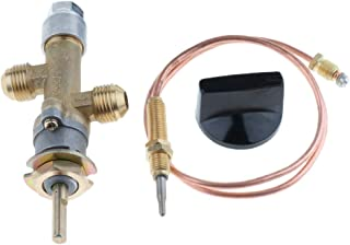 Kesoto Gas Main Control Valve with Thermocouple & Knob, Suitable for Grill, Fire Pit, Fireplace, Furnace & Heater