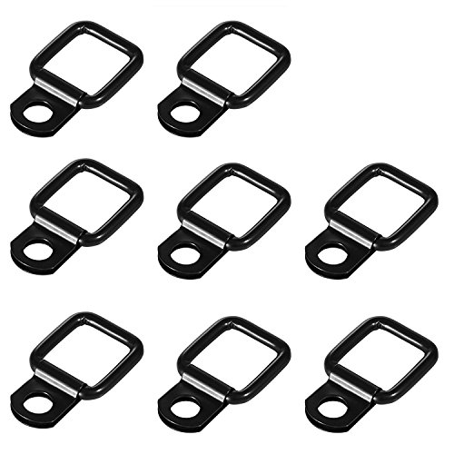 4 Pack Tie-down D-rings Jeep Tie Downs Anchors for Jeep Wrangler Trunk Cargo Net Tie Down Strap Stainless Heavy Duty