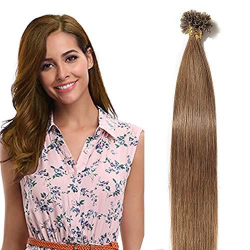 SEGO Extension Capelli Veri Naturali Hair Extensions Clip Biadesivo Cheratina Tessitura Vari Tipi Posticci Donna 50g