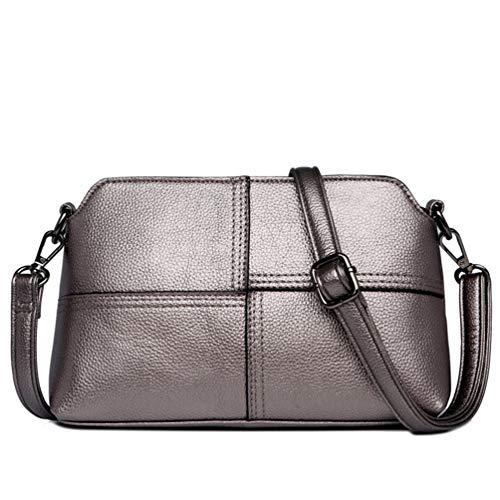 Bolso bandolera para mujer, estilo informal, cruzado al aire libre, fácil de gran capacidad, versátil bolsa de la compra, materiales de piel