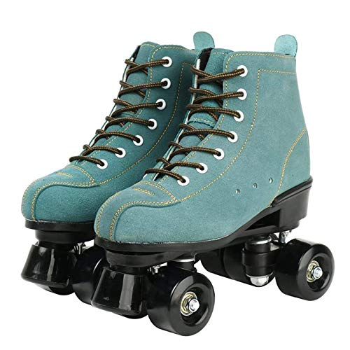Roller Skates, Rollschuh Schuhe Für Damen/Herren Skate Retro High Top Design Indoor Outdoor Rollschuhe, Grün,44