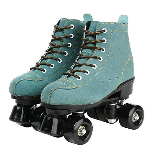 Roller Skates, Rollschuh Schuhe Für Damen/Herren Skate Retro High Top Design Indoor Outdoor Rollschuhe, Grün,38