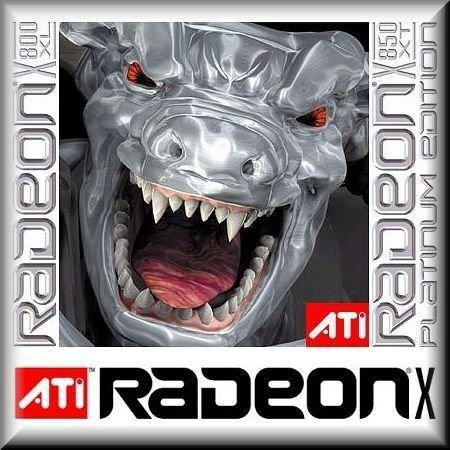 Gehäuseaufkleber 25 x 25 mm Casesticker 3D-Doming ATI Radeon X800- / X850-Series silber/weiss