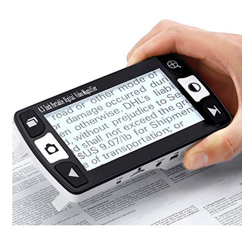 Lente di Ingrandimento Videoingranditore Digitale Portatile per Ipovedenti da 4.3 Pollici, Ausilio Visivo per Lettura con Diverse modalità Colore
