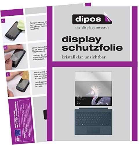 dipos I 2X Schutzfolie klar kompatibel mit Microsoft Surface Pro (2017) Folie Displayschutzfolie