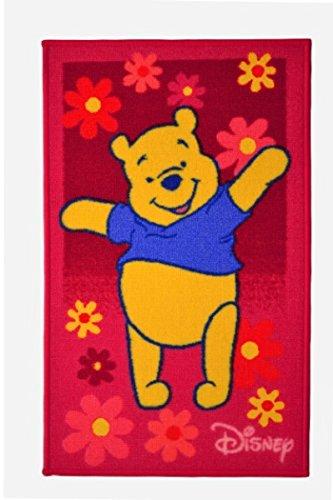 Bavaria Home Style Collection – Tapis pour enfant compatible avec Winnie l'ourson – Rose env. 50 x 80 cm