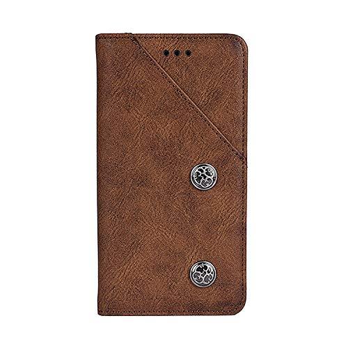 CiCiCat UMIDIGI A3/UMIDIGI A3 PRO Hülle Handyhüllen, Flip Back Cover Hülle Schutz Hülle Tasche Schutzhülle Für UMIDIGI A3/UMIDIGI A3 PRO Smartphone. (5.5'', Braun)