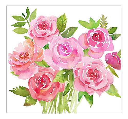 Paper Products Design Confezione da 20 tovaglioli di Carta Merci Pink Roses.