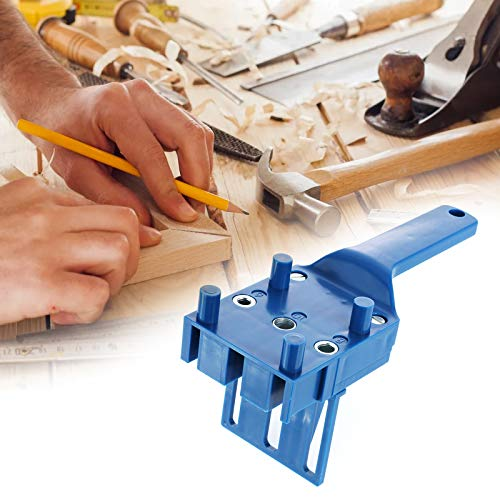 Drill Punch Locator, Dyna-Living 13PCS Drill Bit Positioner Self Center Doweling Jig Handheld Woodworking Drilling Locator with Drill Bits Limit Ring 3-12mm, Tenon Alignment Tool 6/8 /10mm & Hex Key