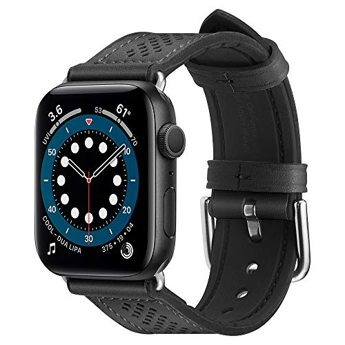 Spigen Retro Fit Compatible con Apple Watch Cinturino per 44mm Serie 6/SE/5/4 e 42mm Serie 3/2/1 - Nero