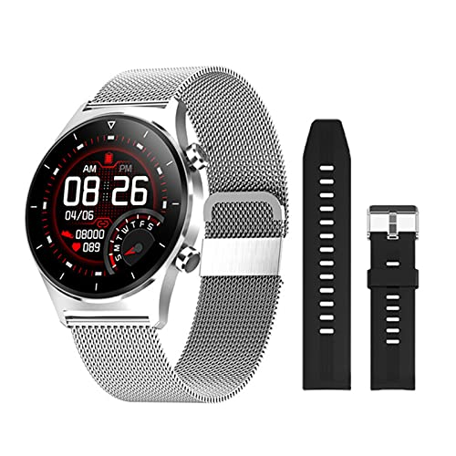 ADH E13 Smart Watch, Música Bluetooth, Múltiples Modos De Deportes, Podómetro De Soporte GPS, Reloj Inteligente Touch Completo, Adecuado para iOS Android,B