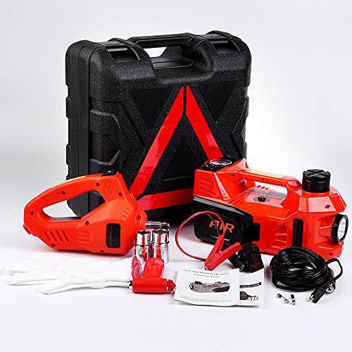 CNRGHS Autoelektrik Jack-Set, 12V Elektro-Hydraulische Wagenheber, Elektroschrauber, Luftpumpe, Multifunktions-Notfall-Reifenhebe Kit, Auto-Reparatur-Werkzeug