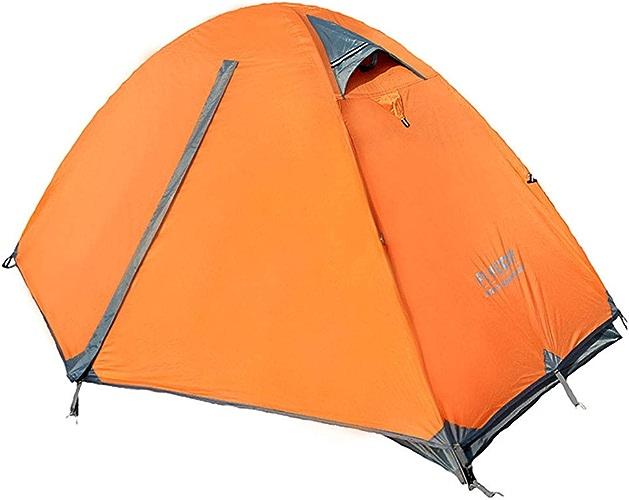 Tente de tente de camping en plein air en aluminium à double porte double couche double porte extérieure anti-tempête (Couleur   bleu)