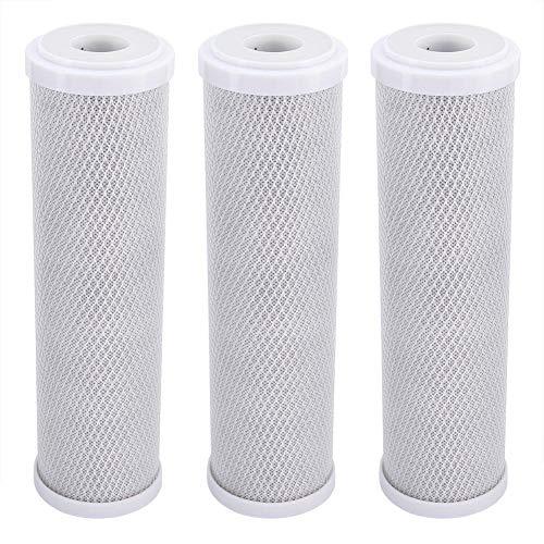 3 stuks waterfilter vervanging, actieve koolstof CTO waterfilter vervanging, 2,8 x 2,8 x 10 inch