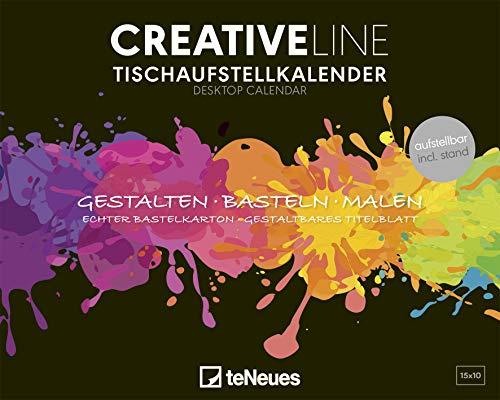 Creative Line Tischaufsteller quer 2021 - Kreativ-Kalender - DIY-Kalender - Kalender-zum-basteln - Tischkalender - 20x16