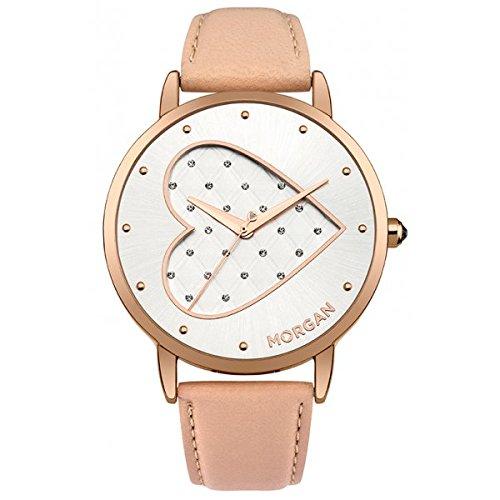 Morgan M1241CRG - Reloj de Pulsera Mujer, Piel, Color Beige