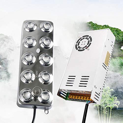 InLoveArts Ultraschall-Nebelmaschine Fogger, Nebelmaschine Fogger Luftbefeuchter mit Transformator für Gartenpflanze Fower Lawn Water Fountain Pond (10 Loch)