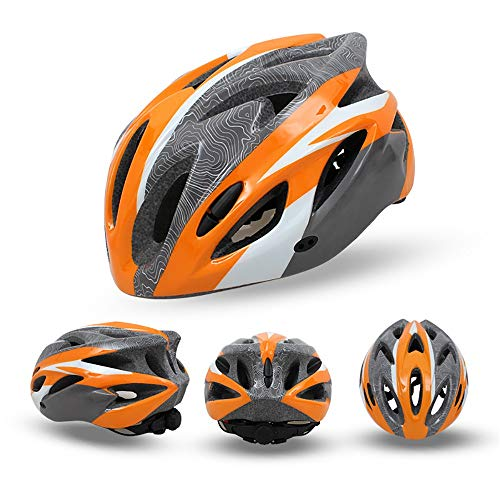 CFmoshu Helmet MTB Road Mountain Bicycle Helmet Adult Men Women Bike Helmet Double Shell Design Road Cycling Fits Head Sizes 56-59CM