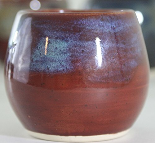Yerba Mate Cup, Ceramic Gourd Mixed Red