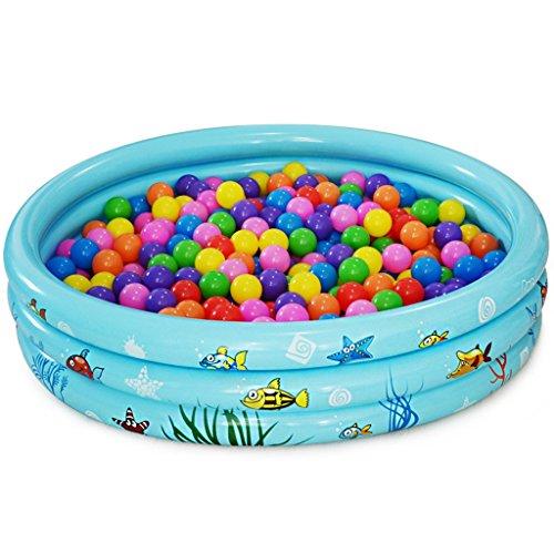 QLM-Inflatable bathtub Praktische tragbare Kind Erwachsene aufblasbare Ba Runde verdickten aufblasbaren Pool und Kinder Spielzeug Pool and Inflatable Plunge Bath (Farbe : Blau)