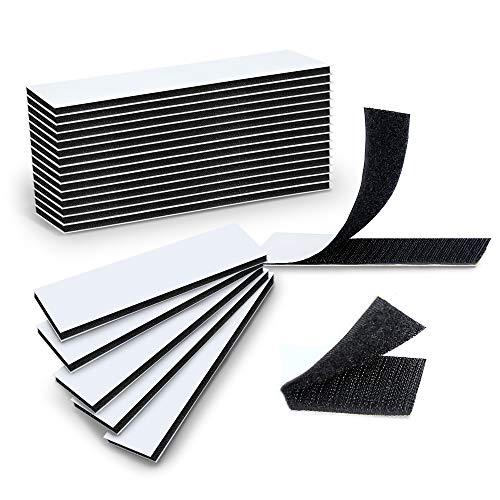 15 unidades de cinta adhesiva profesional autoadhesiva con cierre de velcro en la parte posterior, cinta de doble cara entrelazada para uso en el hogar y la oficina, 1,2 x 4,7 pulgadas