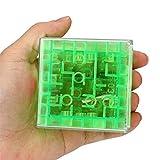 Fliyeong El mejor regalo de juguete, rompecabezas 3D cubo laberinto juguete mano juego caja caja divertido juego cerebro desafío Fidget juguetes para niños niño niño niña verde rentable