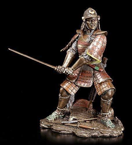 Samurai Krieger Figur mit Schwert | Veronese Bronze-Optik Deko