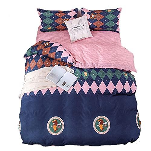 Popular Bedding Four-Piece Set Size Pattern Online Shop 4-Piece Set Pillowcase (Size : 180x220cm)
