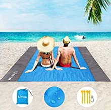 Beach Blanket, USYER Oversized 78''×82'' Sand Free Beach Blanket Waterproof for 3-7 Adult, Lightweight Sand Proof Beach Picnic Mat for Travel, Camping, Hiking and Music Festivals
