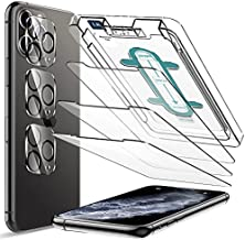 6 Pack LK 3 Pack Screen Protector with 3 Pack Camera Lens Protector Compatiblewith iPhone 11 Pro 5.8-inch,Tempered Glass, Case Friendly, Easy-Installation Tool, HD Clear 9H Hardness