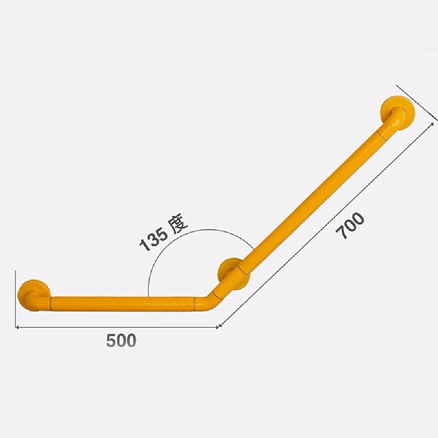 HQLCX Handrail Bathroom Toilet Old People Safe Disabled Hand Bathroom Bathroom Bathroom Anti-Skid Handle Barrier Free Handrail,50 70Cm,Yellow