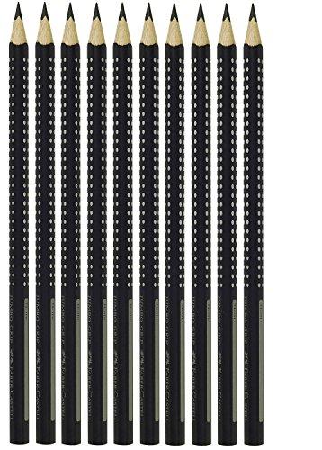 Faber-Castell 274002–Lápiz Grip 2001, FSC%, mina B, Negro