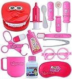 Toyshine Boy's and Girl's Plastic Dentist Doctor Pretend Play Set Toys Medical Kit, Pink, 15 Pcs