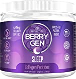 Berry Gen: Sleep Collagen Powder with Melatonin and Valerian Root for Sleep Aid - 30 Servings - Natural Dual Action Formula - Provides Calm Support and Stress Relief - Made in The USA
