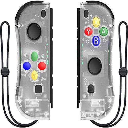 LIGHTOP Wireless Controller für Nintendo Switch, Rot Blau Controller Kompatibel für Nintendo Switch Console als Ersatz für Joy Con Controller (Mehrere Farben)
