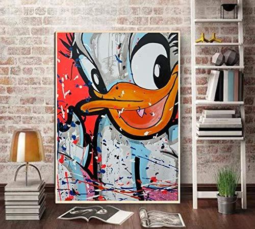 Puzzle 1000 piezas Arte pop Graffiti Art Imagen del pato Donald puzzle 1000 piezas animales educativo divertido juego familiar para niños adultos Rompecabezas de juguete de de50x75cm(20x30inch)