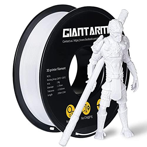 Filament GIANTARM PETG 1,75 mm pour imprimante 3D 1 kg, Blanc