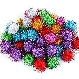 Kohyum Crafts Pom Poms Glitter Poms Sparkle Balls - Colores Surtidos