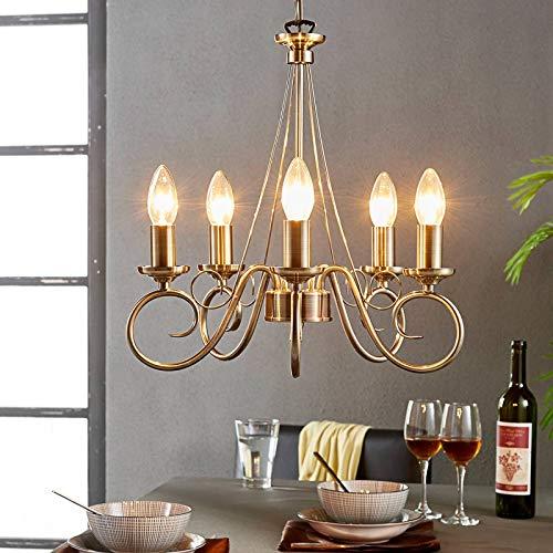 Lámpara de araña 'Marnia' (Retro, Vintage) en Bronce hecho