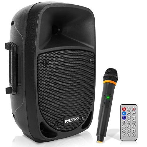 Pyle PSBT85A Altavoz autoamplificado Karaoke portátil con batería Woofer 8' Bluetooth y...