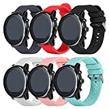 TenCloud Straps Compatible with Huawei Honor Magic Watch 2 46mm Replacement Band Silicone Sport Bands for Honor Magic 2 Smart Watch (6 Colors, 46mm)