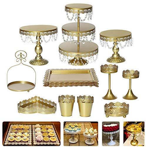 Soporte para magdalenas de metal de cristal, para decoración de tartas o cupcakes