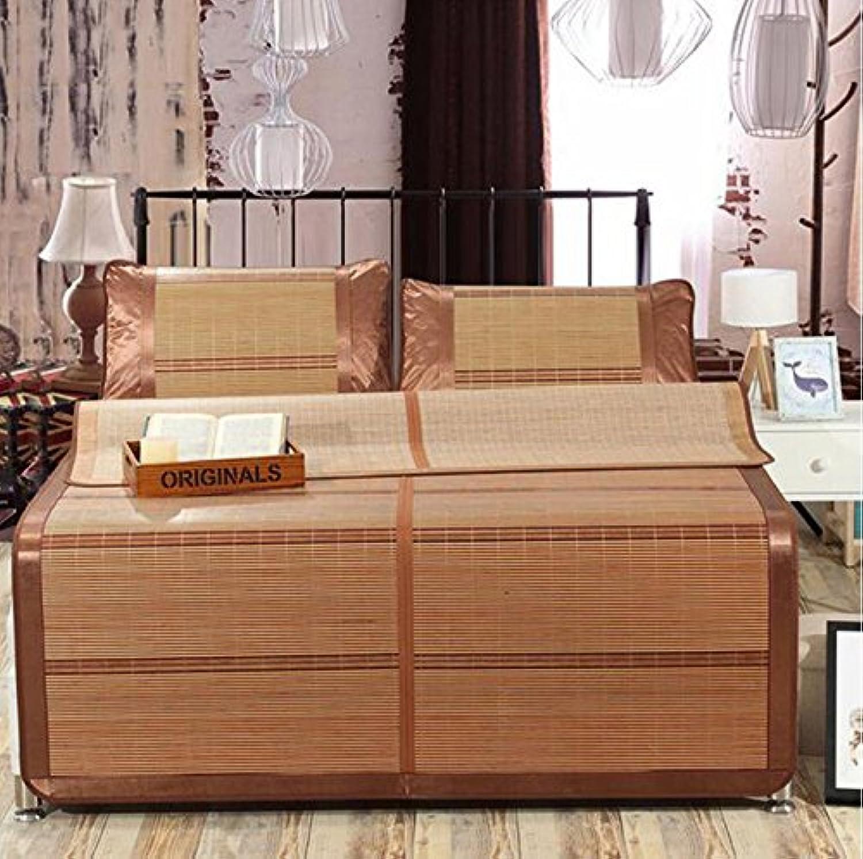 Sommerbettmatte Bambusmatten Matten doppelseitige Bambusmatten carbonisierte Faltschrnke Einzel-Doppelmatten Einzelstücke Matten Bettmatten Holzkornsitze 1.8  1.98m (gre   1.5  1.95m)