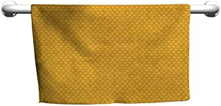 Cute Hand Towels Pop Art Vintage Retro 50s 60s Image with Polka Dots Pattern Design Artistic Print High-end Bath Sheet 10 x 10 inch Marigold and Yellow