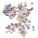 Artibetter 400Pcs Perle di Cuore in Acrilico Colorato Amore Perline a Forma di Cuore Distanziatore Perline Sciolte Perline Arcobaleno Pony per Braccialetti Creazione di Gioielli