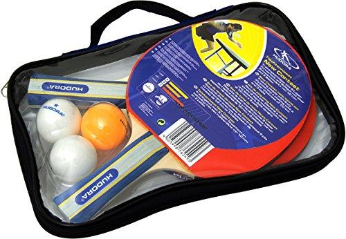 HUDORA Tischtennis-Set New Contest, 2 Tischtennis-Schläger + 3 Tischtennis-Bälle - 76249
