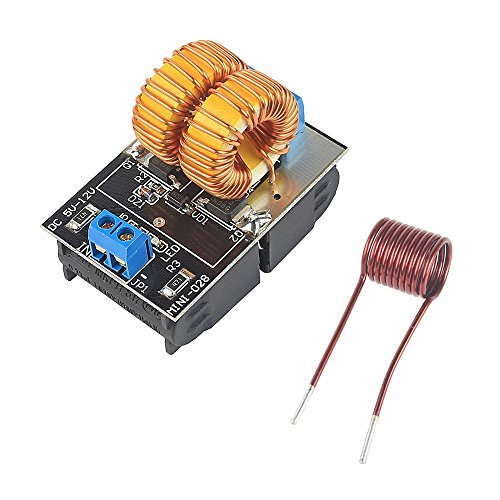 SainSmart 5V~12V Zero Voltage Switching ZVS Induction Heating Power Supply Module + Coil Power Supply Heating Power Supply Module