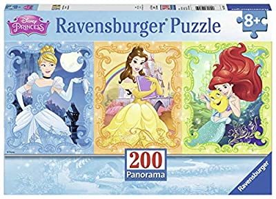 Ravensburger Beautiful Disney Princesses Panorama 200 Piece Jigsaw Puzzle for Kids – Every Piece is Unique, Pieces Fit Together Perfectly, 12825